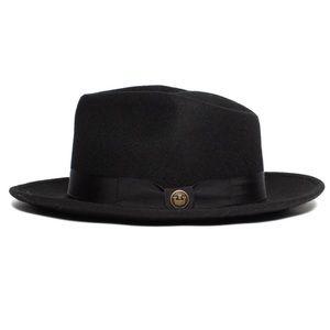 Goorin Bros. The Saloon Black Wool Fedora Unisex NWT